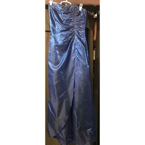 Blue sparkle homecoming dress!